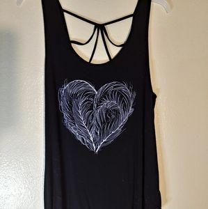 Decorative heart tank top